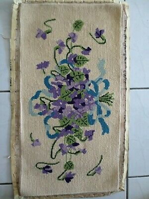 Tapestry  Craft Picture Completed And Framed Violets