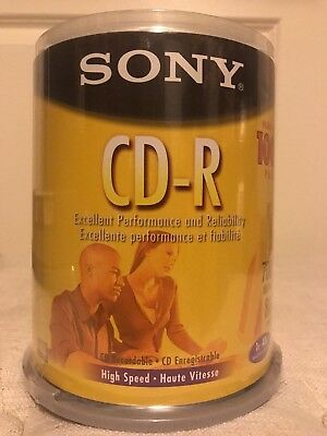 Sony CD-R 100 Pack Spindle 80 Minutes 700 MB new sealed