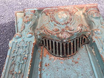 Cast Iron Antique Bench Seat Theater Aisle Light Architectural Ornate Victorian