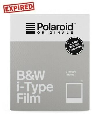 EXPIRED Polaroid Originals B&W Instant Film for i-Type OneStep 2 Instant Camera