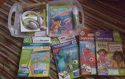 Leap Frog Tag Reader, Pen, Cord, X4 books and LeapReader Activity set NEW