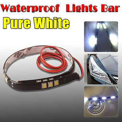 "4pcs 12""/30CM Pure White 5050 LED Car Motor Truck Flexible Strip Light 6000K 12V"