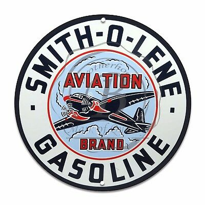 Vintage Design Sign Metal Decor Gas and Oil Sign - Smith O Lene Aviation Gas