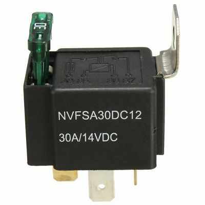 12V 30A Car 4-Pin Normally Open Contacts Fused Relay On/Off With Metal Bracket