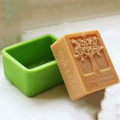Life Tree Rectangle Silicone Soap Mold Craft Candle DIY Chocolate Handmade Mould