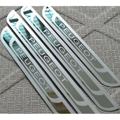 Stainless Door sill scuff plate Guard Trim For Peugeot 206 301 207 307 407 208