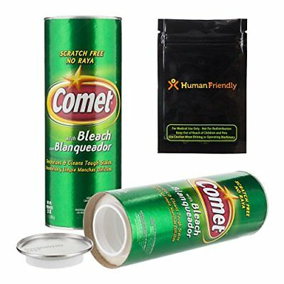 NEW Comet Cleaner Diversion Safe Stash Can w HumanFriendly Smell Proof Bag