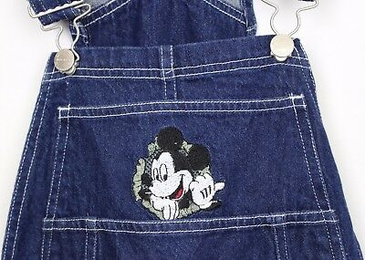 Vtg Mickey Mouse Disney Denim Dungarees Teens Festival Moms Hipster New