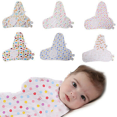 Baby Swaddle Wrap Infant Bedding Blanket Cotton Sleeping Bag Cotton Wrap 4-9Kg