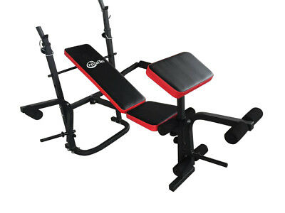 CrystalTec Adjustable Dumbbell Barbell Folding Weight Bench