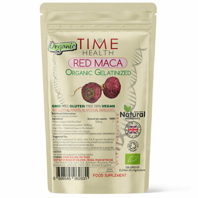 Organic Red Maca Root Capsule 2000mg Extract Gelatinized Sexual Health Energy UK