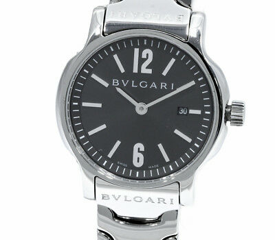 67925dd940f Pre-Owned BVLGARI Sorotenpo All SS Gray Dial Women s Quartz Wristwatch  ST29S