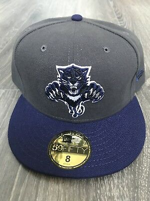 New Era NHL Florida Panthers Fitted Cap Size 8 Grey Navy