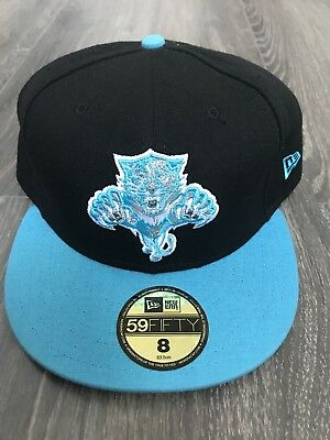 New Era NHL Florida Panthers Fitted Cap Size 8 Black ice blue
