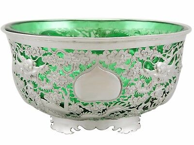 Antique Chinese Export Silver Bowl 1890s