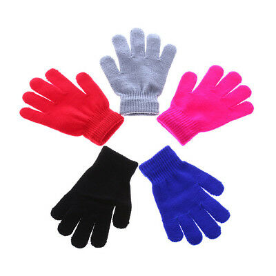 Kids Magic Gloves Pair Winter Warmth Comfortable Girls Boys Acrylic Children's
