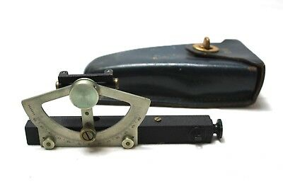 Keuffel & Esser Co. Abney Level Inclinometer with Leather Pouch [Ref M]