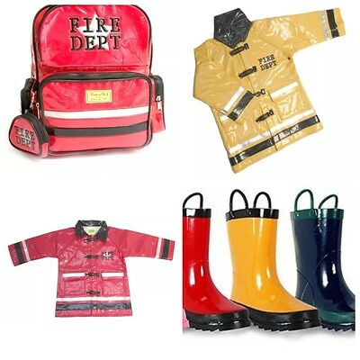 Joblot Fireman Red And Yellow Raincoats And Wellies Value £900
