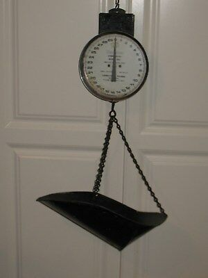 Vintage mid century Hanging Commerial Scale 30 lbs Hanson scale no.860