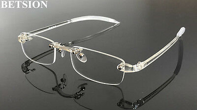 a743a9ffb35 TR90 Flexible Rimless lightweight Eyeglass Frames Glasses Rimless Spectacles  Rx