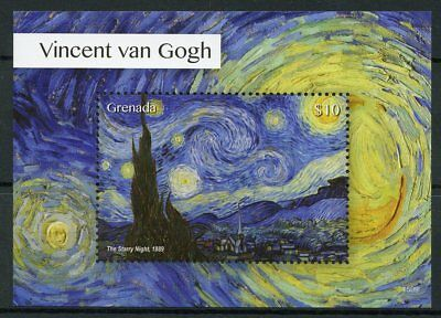 Grenada 2015 MNH Vincent van Gogh Starry Night 1v S/S Art Paintings Stamps