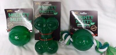 Pet Love Mighty Mutts Mint Rubber Toys, 3 Designes