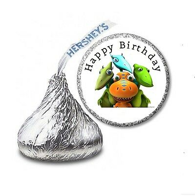 216 DINOSAUR TRAIN HERSHEY'S KISS CANDY BIRTHDAY STICKER LABELS - Party Favors