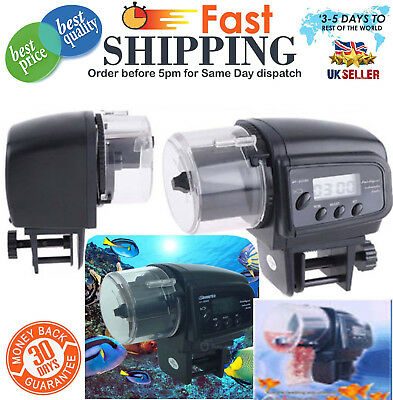 Automatic Auto Aquarium LCD Fish Food Feeder  Timer for Fish Tank UK Stock