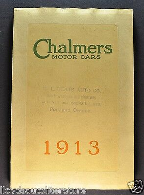 1913 Chalmers Prestige Catalog Brochure Six, Thirty-Six Excellent Original 13