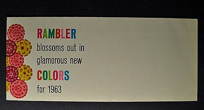 1963 Rambler Paint Color Brochure American Classic Ambassador Excellent Original