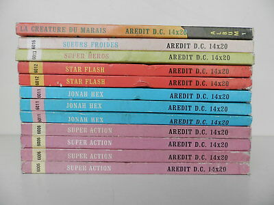 Lot 12 Reliures Arédit D.C. Comics La créature du marais Wonder Woman Star Flash
