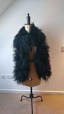 Ostrich Feather Boa * 24 Ply * 1.5m long * Black * Uk Seller