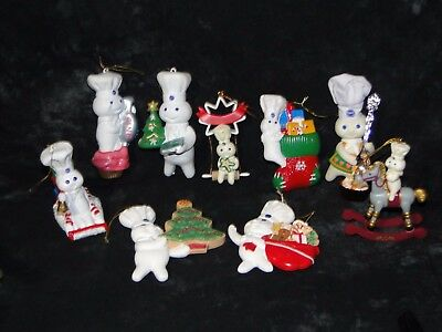 Vintage Pillsbury Doughboy Collectibles - Christmas Ornaments