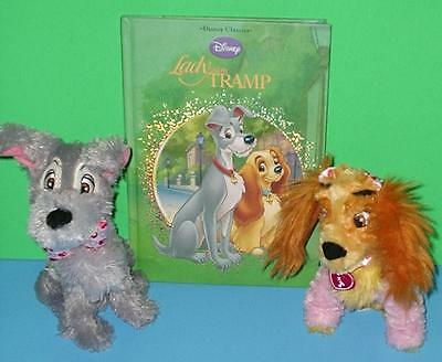 Collectible Classic Lady n the Tramp Plush Disney Parks Toys n HC Cutout Book