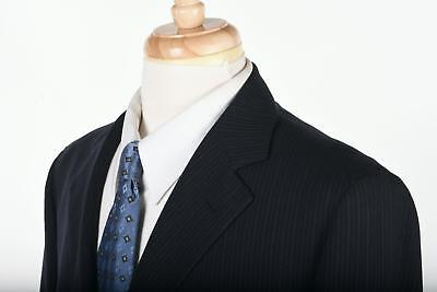 Vintage BROOKS BROTHERS Suit Mens in Midnight Blue Pinstripe 41 R