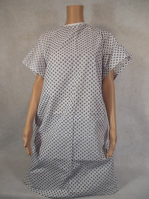 Hospital Patient Gown. Lot(6) Ea. Leightweight Medical Exam Gown *NEW* Free Ship