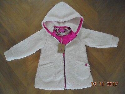 Girls' Joules cream hooded fleece jacket 3-4 years BNWT