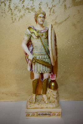 """Statue With """"alexander The Great"""" Made Of Alabaster From Greece"""