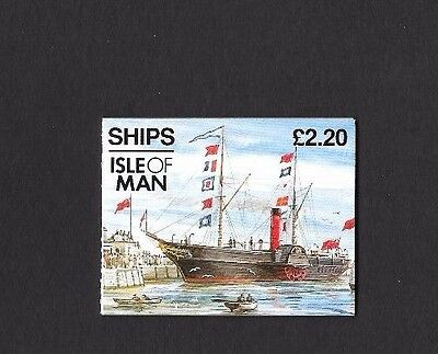 1993  Isle Of Man Stamp Booklet Sb33  'ships'