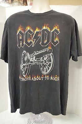 AC-DC True Vintage T Shirt   Tour Concert  T Shirt For Those About To Rock XL