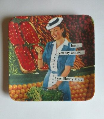 """Anne Taintor Melamine Mini Serving Tray Plate - """"You Say Tomato""""..."""