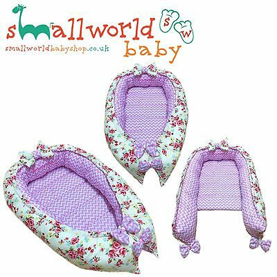 Personalised Girls Baby Sleep Nest Pod Co Sleeping Cot Crib (NEXT DAY DISPATCH)