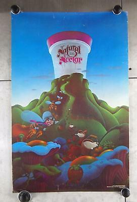 "VTG 1977 Advertisement Natural Nectar Honey Ice Cream 28"" x 18"" Poster A9"