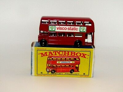 Lesney Matchbox No 5 Routemaster Bus BPW Near Near Mint in E Box