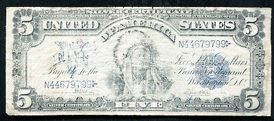 "Fr. 281 1899 $5 Five Dollars ""Chief"" Silver Certificate Currency Note"