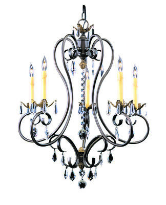 Framburg (9905 MB) 5-Light Mahogany Bronze Liebestraum Dining Chandelier