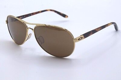Oakley Feedback Sunglasses OO4079-04 Polished Gold Frame W/Tungsten Iridium Lens
