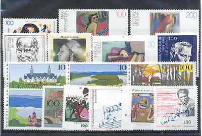 Germany - Nice Lot of Stamps 1996 MNH**