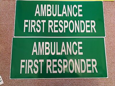 Ambulance First Responder Community REFLECTIVE MAGNET Emergency LARGE 700mm x2