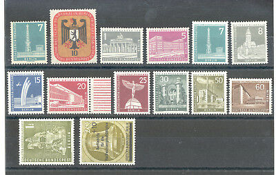 Germany - Berlin, Nice Lot of Stamps 1956 MNH**